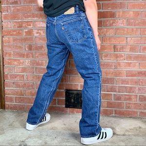 Vintage Levi's 517 Bootcut Orange Tab Jeans 36x30